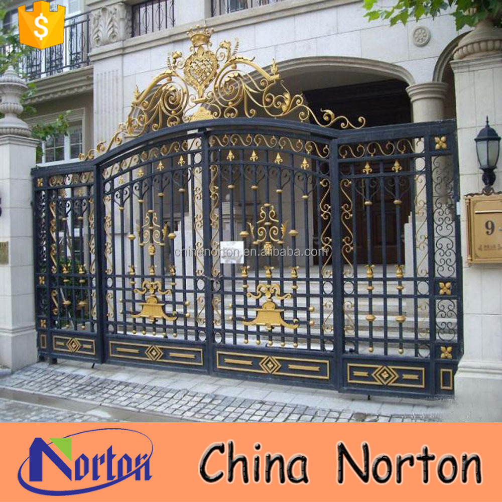 Norton factory trade assurance sliding wrought iron driveway gate designs NT--WIA030