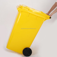 EN840 Chinese supplier large types of outdoor waste bin, 240 liter waste bin, plastic waste bin