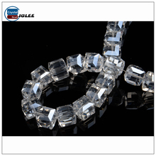 Clear glass beads hot sales hollow glass beads crystal jewelry decorative beads for clothes