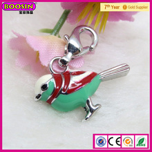 Top Quality Bird Jewelry charm Color Parrot Charm For Pendant Necklace # B00608