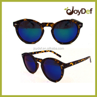 Sexy animal tortotise pattern frame sun glasses classical round mirrored sunglasses for ladies
