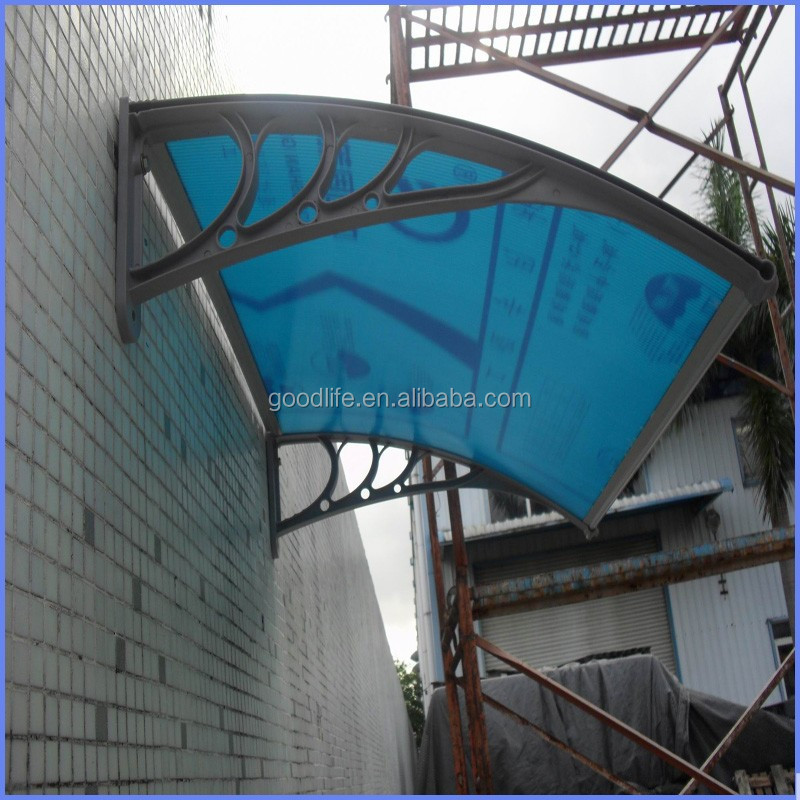 Easy installation plastic door canopy awning brackets for personal use