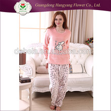 Top quality comfortable soft home wear, adult pyjamas women winter