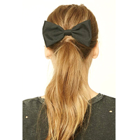 Women Solid Color Bulk Wholesale Korean 6 Inch Big Large Hair Bows With Clips
