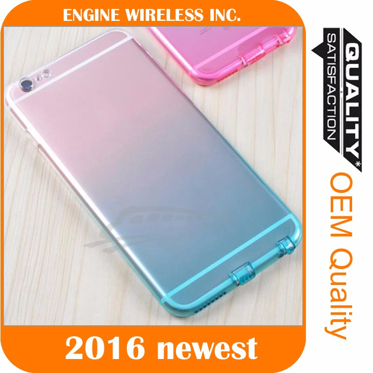 Crystal Soft TPU Transparent Silicone Clear Case Cover for iphone4/5/6s/6s plus