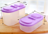 customize multifunction plastic storage box/double lattice container/food plastic box in Ningbo Jiewei