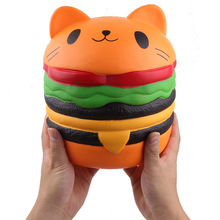 Newest hot sell super jumbo hamburger squishy PU foam good smell slow rising toys for <strong>kids</strong>