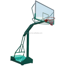 Adjustable Basketball Stand with Glass Basketball Backboard and Hoop