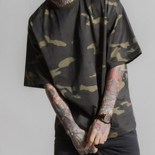 100% bamboo cotton western style camo loose men new fashion design your own t shirt