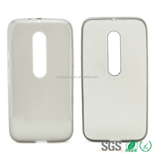 inside pollish clear transparent TPU phone case for MOTO G3