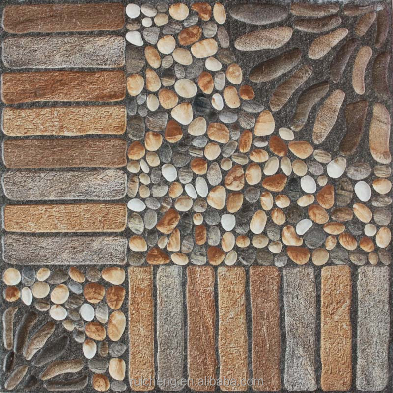 2015 new design non slip 3d inkjet rustic floor tile for Baldosas para jardin