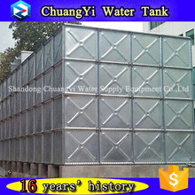 Bottom price pressed galvanized steel tank panel 1m*1m 1.22m*1.22m/galvazied water storage tank