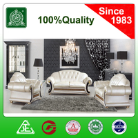 C870 big size living room furniture sectional crystal buttons leather sofa set