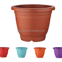 Mini Round Plastic Plant Decor Planter