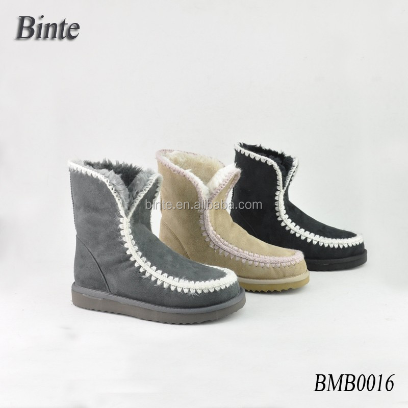 2015 New knited women durable boots safety boots outdoor b boots shoes