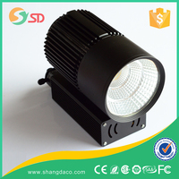 20w-30w barn door dimmable led track light, high lumen cob shop lighting track spotlight