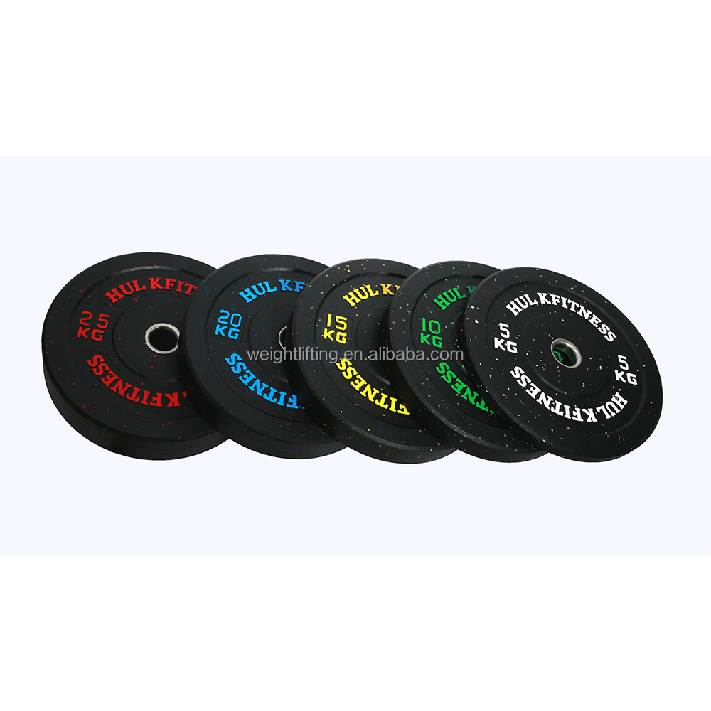 Basic crumb rubber bumper plate set for weight lifting
