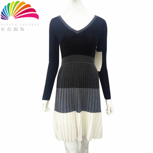 Factory supplier sweater women designs ladies autumn knitted dress