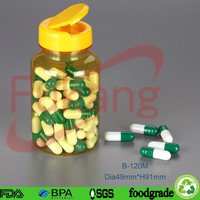 4oz clear pharmaceutical plastic container, capsules pills pet bottle with lid, herbal supplement plasitc bottle factory