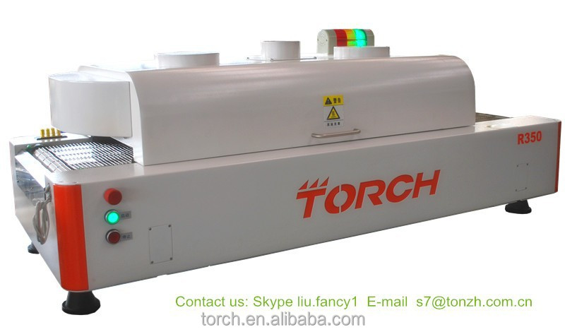 SMT reflow oven/PCB assembly machines/reflow soldering machine with online temperature testing R350