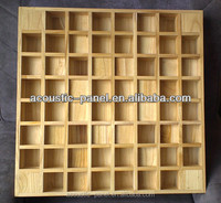 two dimension solid wood sound diffuser/wood acoustic panel for recoarding studio/auditorium