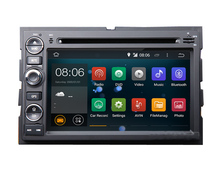 Android 5.1 Car DVD Player GPS Navigation for Fusion Explorer F150 Edge Expedition Mustang with Radio BT USB AUX Audio WIFI