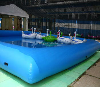 Blue inflatable pool for adults/plastic swimming pools for sale