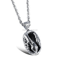 fashion jewelry 2016 men's jewelry stainless steel cobra snake pendant necklace