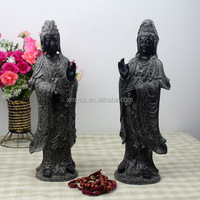 Standing resin kuan yin statue for sale