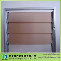 4-6 mm tempered colored glass louver for office window,louver glass
