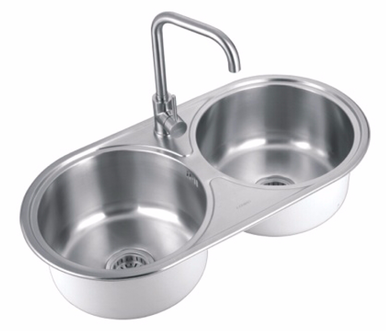 Double Sink Stainless Steel Wash Basin Kitchen Sink - Buy Small Double ...