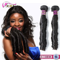 XBL New Arrival Top 7A Virgin Spring Curl Hot Selling Human Hair Extensions Brazilian Hair