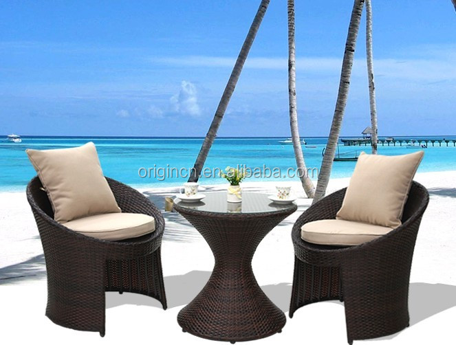 new modern UK style outdoor furniture china with hourglass shape design tea table and chairs set