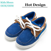 Smart kids thick rubber sole casual sport shoes high quality suede leather men loafers shoes