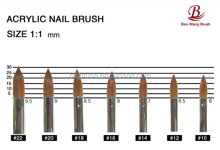 kolinsky sable hair acrylic nail brush