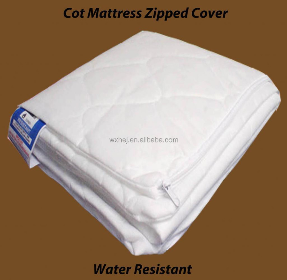 QUILTED ALL SIZES COT BED MATTRESS REPLACEMENT ZIPPED COVER ONLY