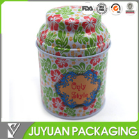 wholesale custom seal round tea tin packaging