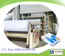 HIGH QUALITY 1092mm use of wood pulp to make a4 writing waste news paper roll making machine