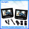 7 Inch Portable DVD Player in Car Back Seat, Two Screen Headrest DVD Player with AV Cable