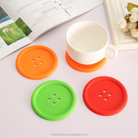 silicone coaster round button cute coasters