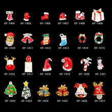 2017 Fashion Gift Nail Decorations Customized 3D Christmas Nail Art Stickers