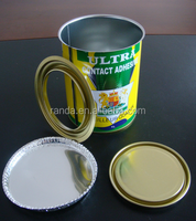 Hot sale empty tin cans paint decorative tin containers/Square Metal print Oil Cans in China
