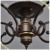 High Quality 5 Lights Coffee Color Celing lamp, Iron Ceiling Chandelier