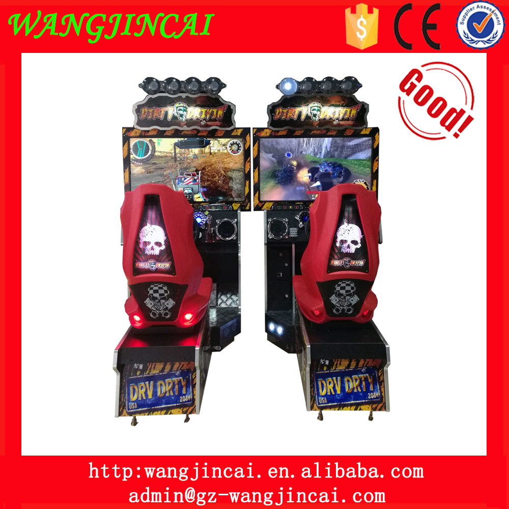 coin operated crazy speed up driving race arcade video games dirty drivin fast racing car amusement games machines