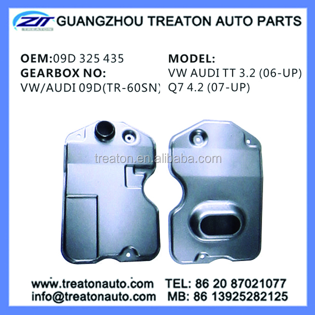 TRANSMISSION FILTER 09D 325 435 VW/AUDI TT 3.2 (06-ON),Q7 4.2(07-ON)
