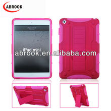 Newest wholesale price hybrid stand combo hard belt clip case for ipad mini