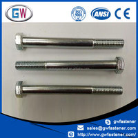 Zinc / Stainless Steel Hex Head m8 Bolt Diameter