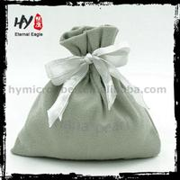 Factory Supply printed cotton jewelry pouches, gift bags with logo, small velvet jewellery pouch