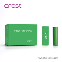 High Amps VTC4 18650 2100mAh 3.6V Unprotected Lithium Ion US18650 VTC 4/5/6 Battery