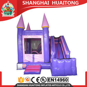 cheap pink pvc inflatable slide bouncer inflatable bouncer/jump castle